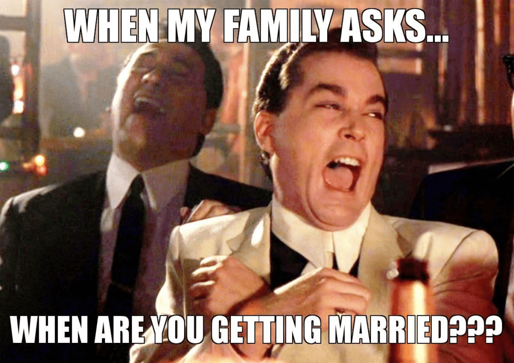 funny when are you getting married meme