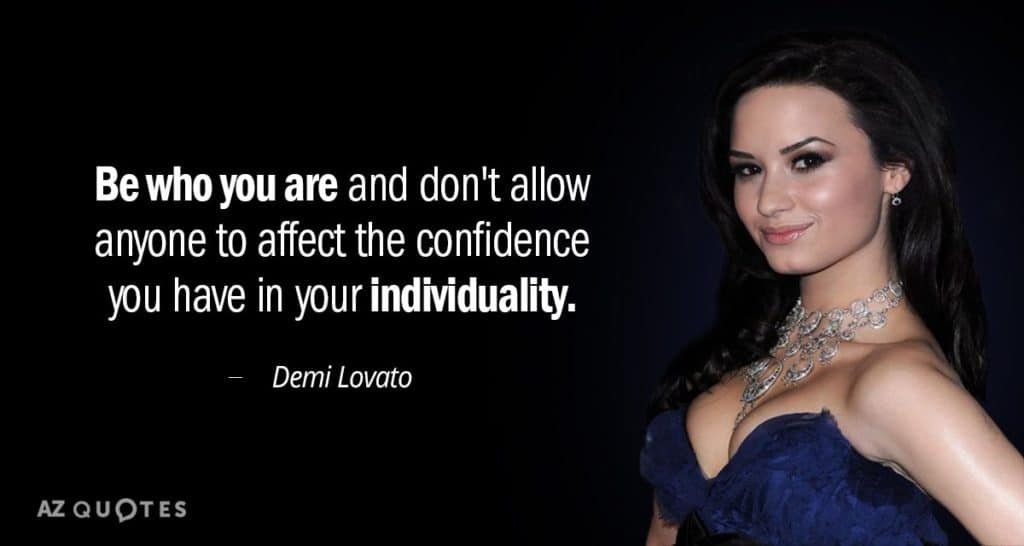 demi lavabo on being weird or different