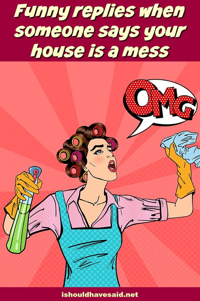 clever comebacks when someone says your house is messy