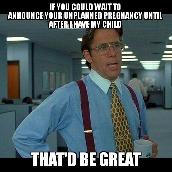 funny pregnancy meme