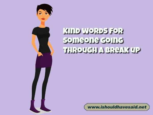What to say to somebody who is going through a break up . Check out our top ten comeback lists. www.ishouldhavesaid.net.