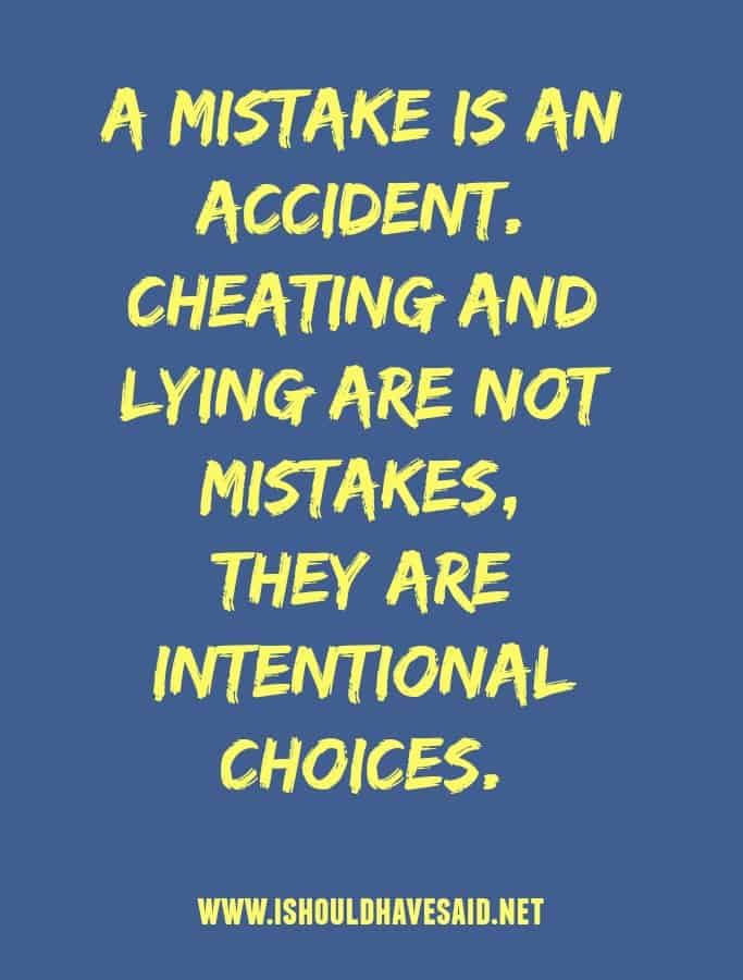 When someone tells you cheating is an accident. More COMEBACKS...