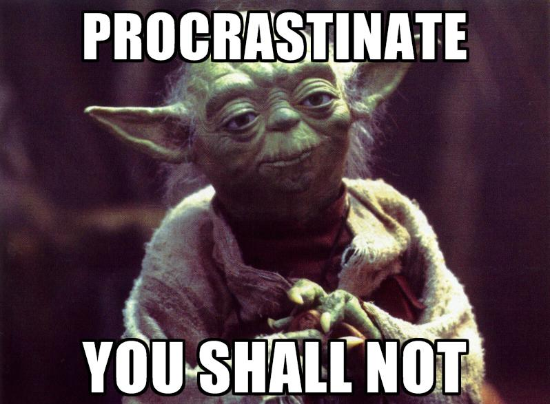 funny things to motivate a procrastinator