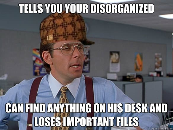 disorganized meme