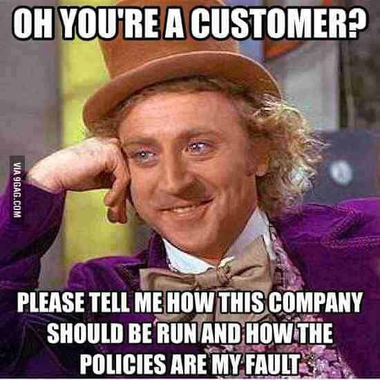 Funny customer service meme