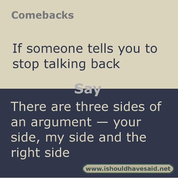how to come up with comebacks