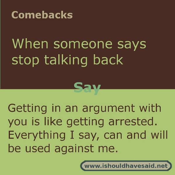 Comebacks for jerks