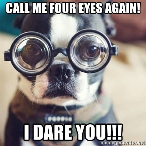 what to say if someone calls you four eyes