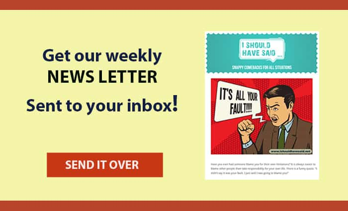 I Should Have Said Monthly Newsletter